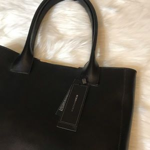 BCBGMaxAzria Bags - Cleo Tote Black Leather Gold Accents NWT
